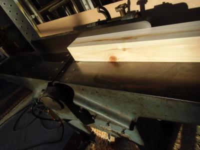 木工機械による加工