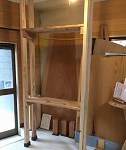ディアウォールを使った2段の棚